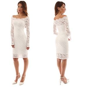 🆕Mele White Lace Dress